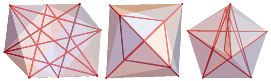 Views of the 8-BLP with the red tubes showing unit-length diagonals