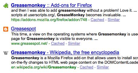 faviconize-google.user.js — Google search with favicons