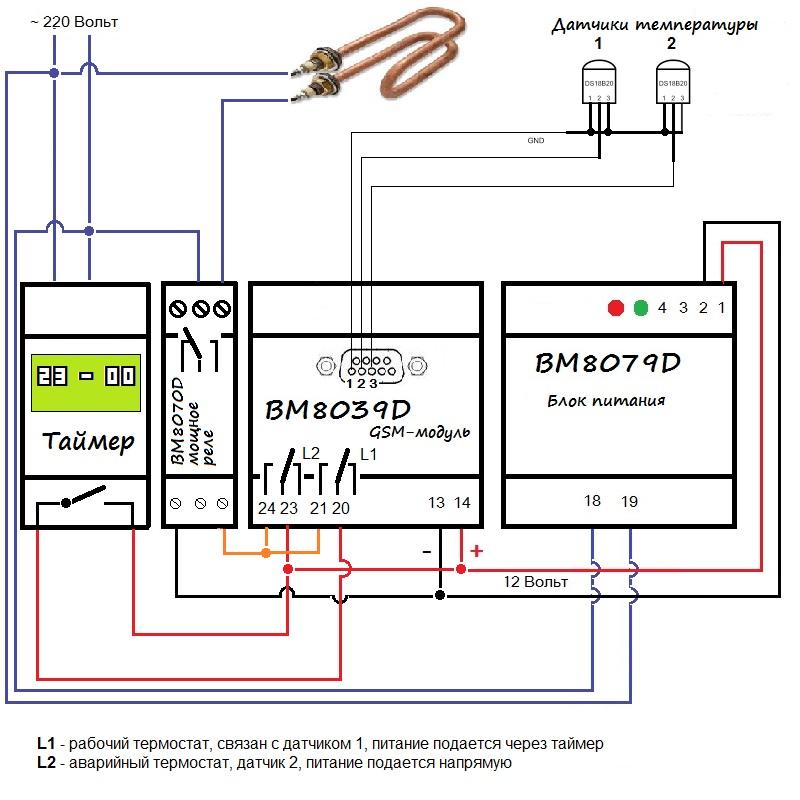 Схема нагревательной системы