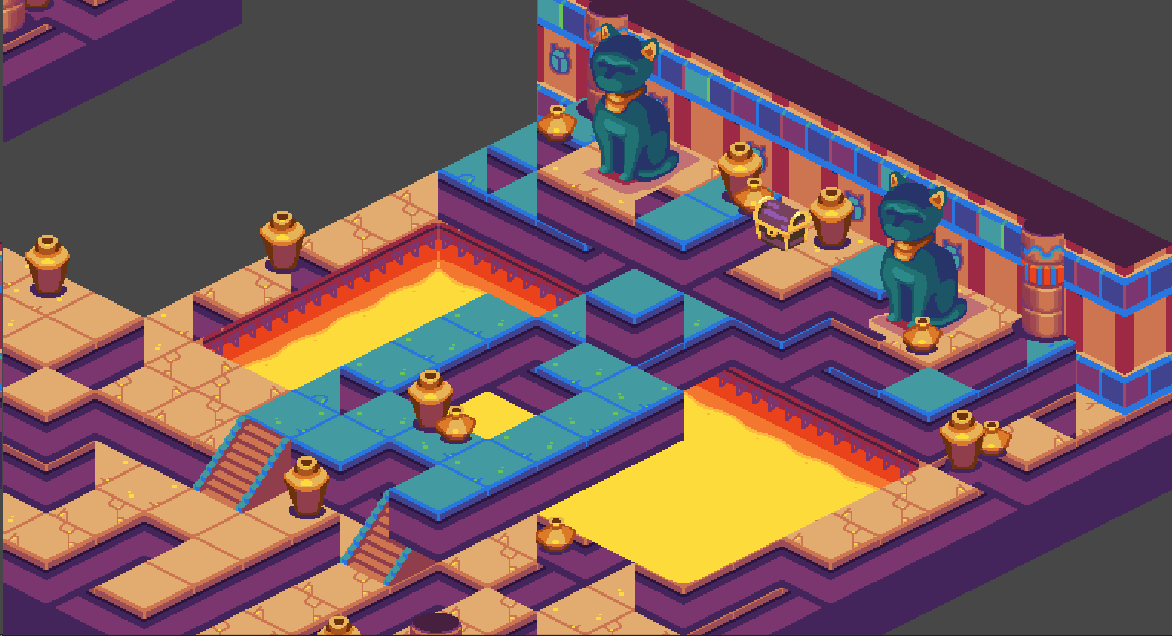 Create isometric 2D levels using the Tilemap system
