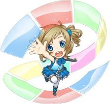 Inori Aizawa, the official mascot of Internet Explorer