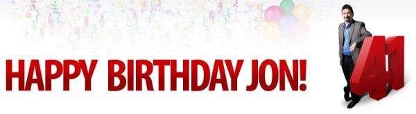 С днём рождения, Йон!