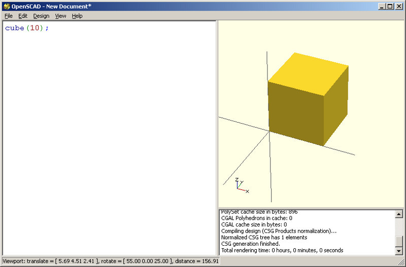 Drawing Lines In Openscad : We suspend cd disk or practical example of modeling on