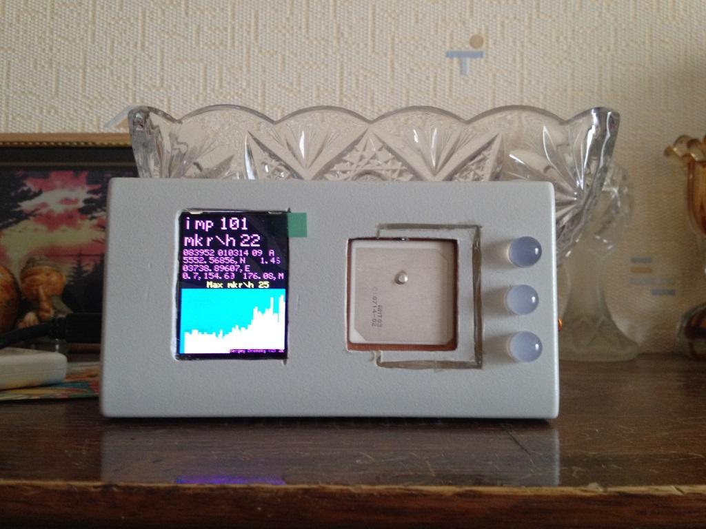 Измеритель радиоактивности (радиометр) с Глонасс приемником и передачей данных по Wi-Fi