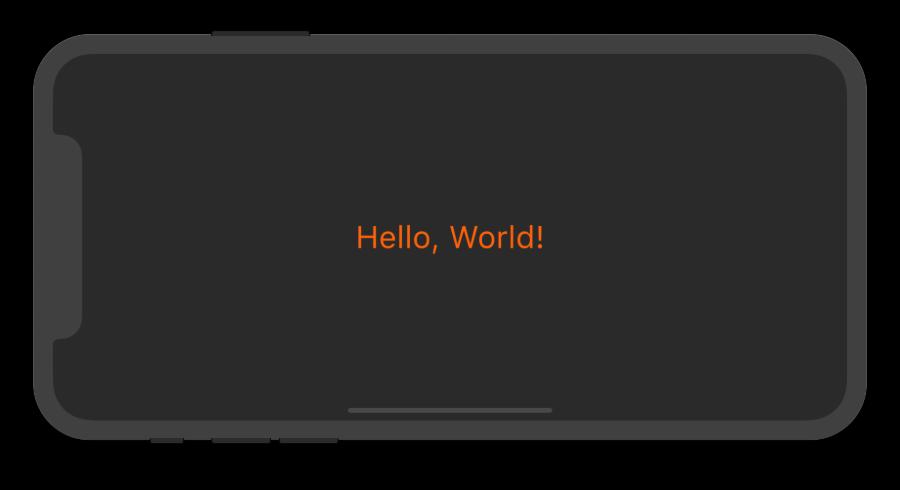 Скриншот HelloWorld приложения