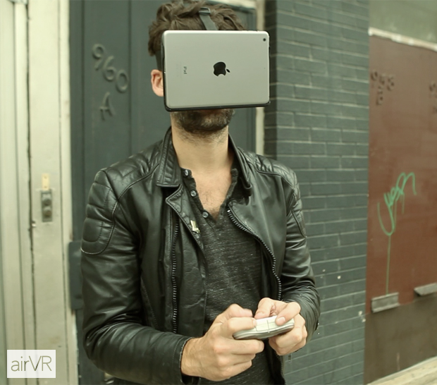 AirVR virtual reality headset for iPad Mini and iPhone 6 Plus