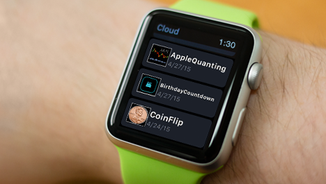 ...And it deploys the generated app to the watch, ready to run
