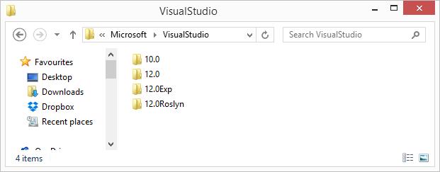 Различные профили Visual Studio и установка расширений к ним