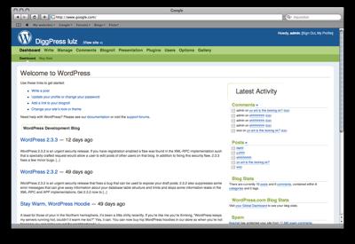 Digg Style Admin Panel Dashboard