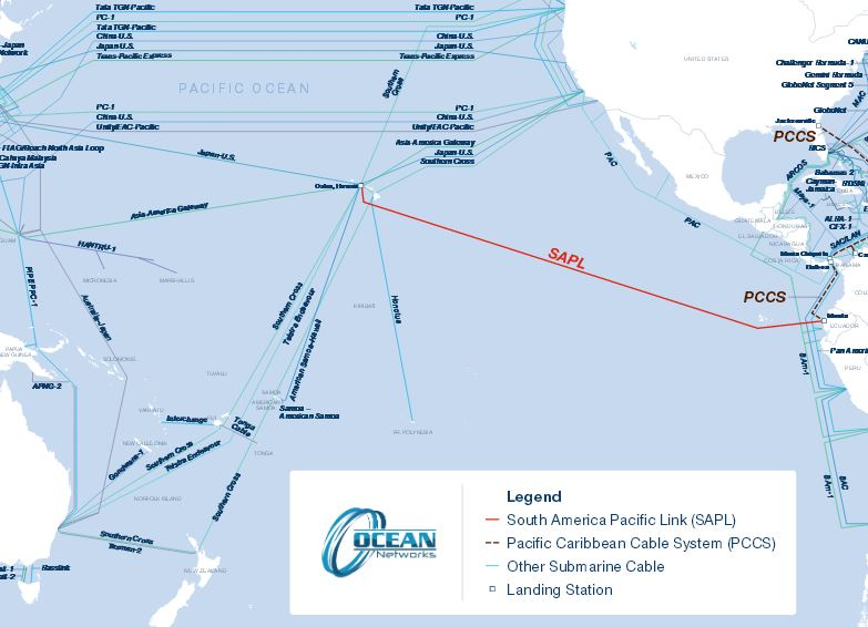 Компания Ocean Networks собирается проложить новую интернет магистраль длиной 9400 км по дну Тихого океана