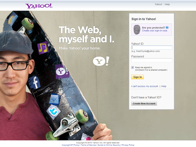 Yahoo!  login page # 3
