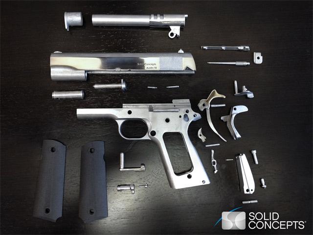 Детали пистолета изготовлены