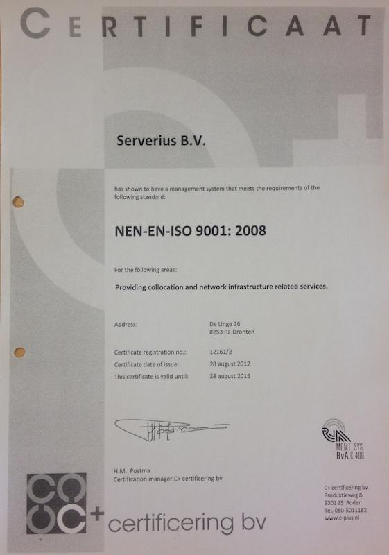 Сертификат Serverius