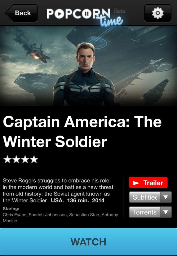 Появилась версия Popcorn Time под iOS
