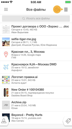 Денис Матвеев: Список вложений