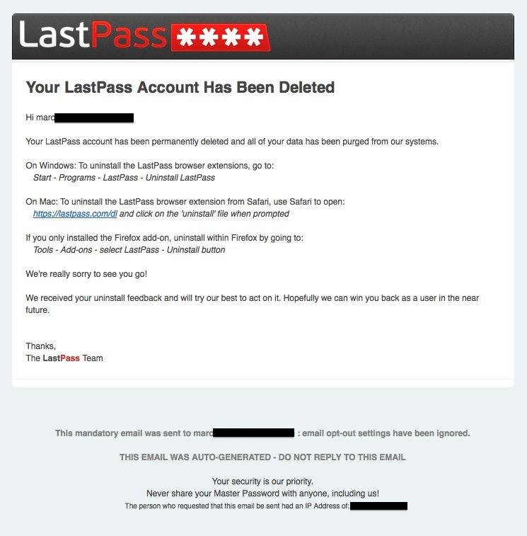 Грустный LastPass