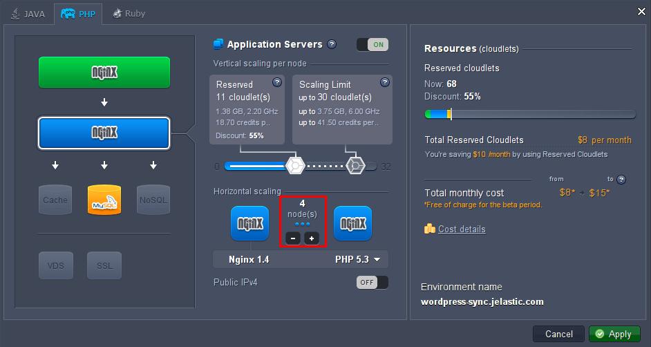 добавить сервера