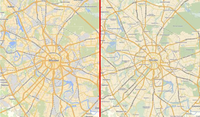 Работа над картой Москвы