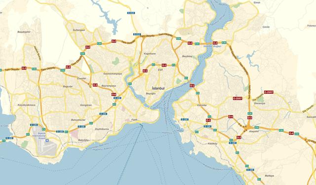 Карта Стамбула, нарисованная
