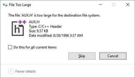 An error that persisted in Windows since 1974