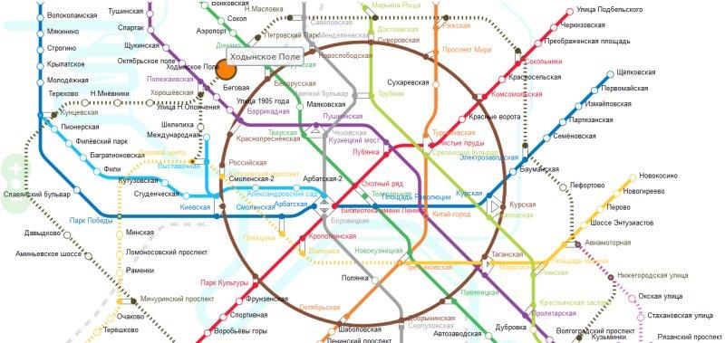 Карта Московского Метро. SVG версия