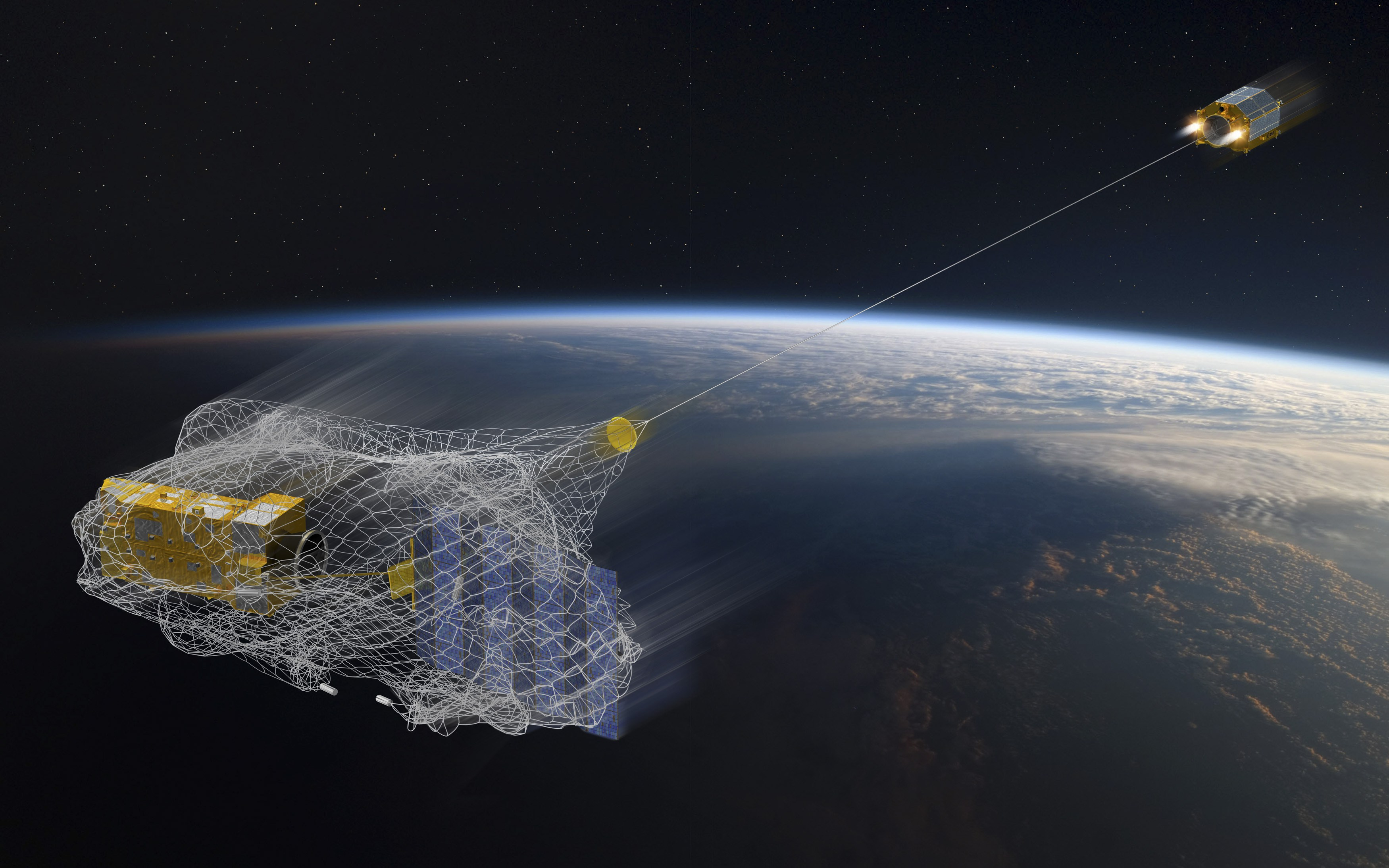 With the ISS launched a satellite, hunting for space debris