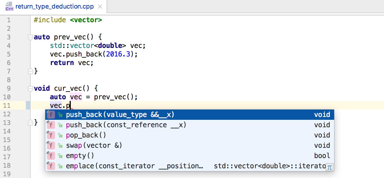 Релиз CLion 2017.1: C++14, C++17, код на дизассемблере в отладчике, Catch, MSVC и многое другое