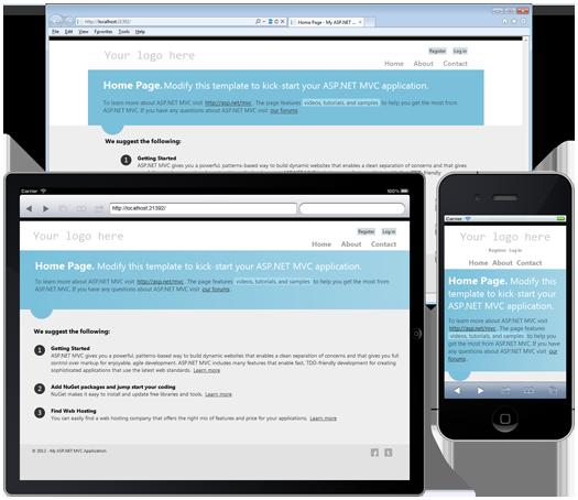 Отзывчивый веб-дизайн в действии на примере типового веб-приложения ASP.NET MVC 4