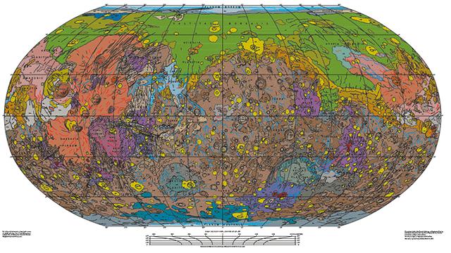 Самая подробная геологическая карта Марса