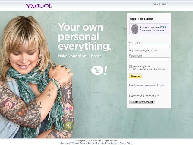 Yahoo!  login page # 4