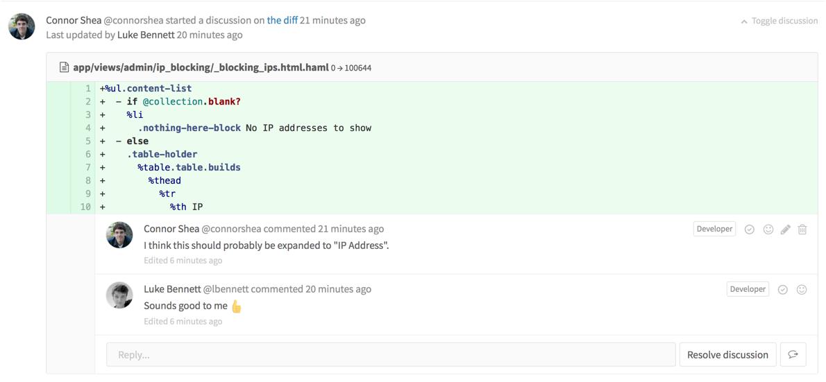 Закрытие обсуждений в GitLab 8.11