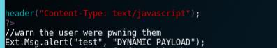 coding an alert