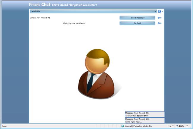 Представление Contact Details в State-Based Navigation QuickStart