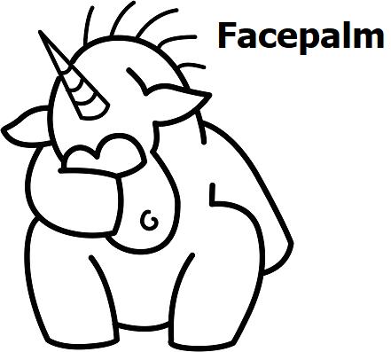 Единорог-facepalm