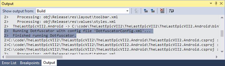 Защита ваших приложений Xamarin с помощью Dotfuscator