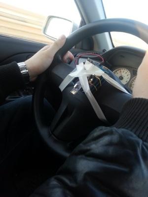 Как гироскопом на руле машину измеряли