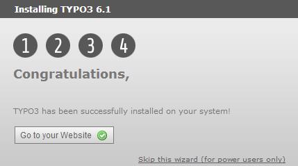 TYPO3 установлен