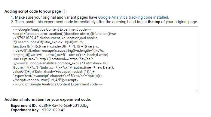 Контент-эксперименты в Google Analytics для всего сайта одновременно