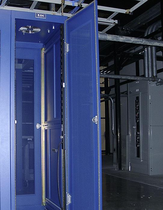 Locked server rack in Fremont-II