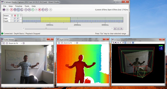 Kinect studio