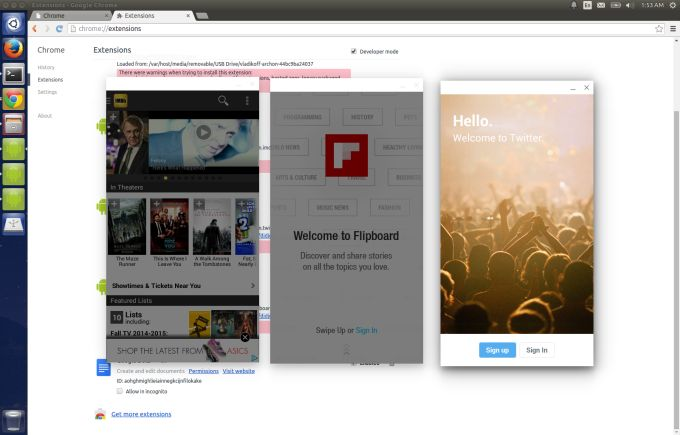 Запуск Android-приложений под Windows, OS X, Linux в Chrome