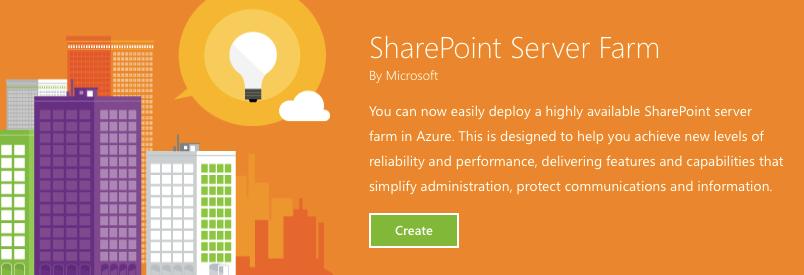 SharePoint Farm — новая возможность в Microsoft Azure