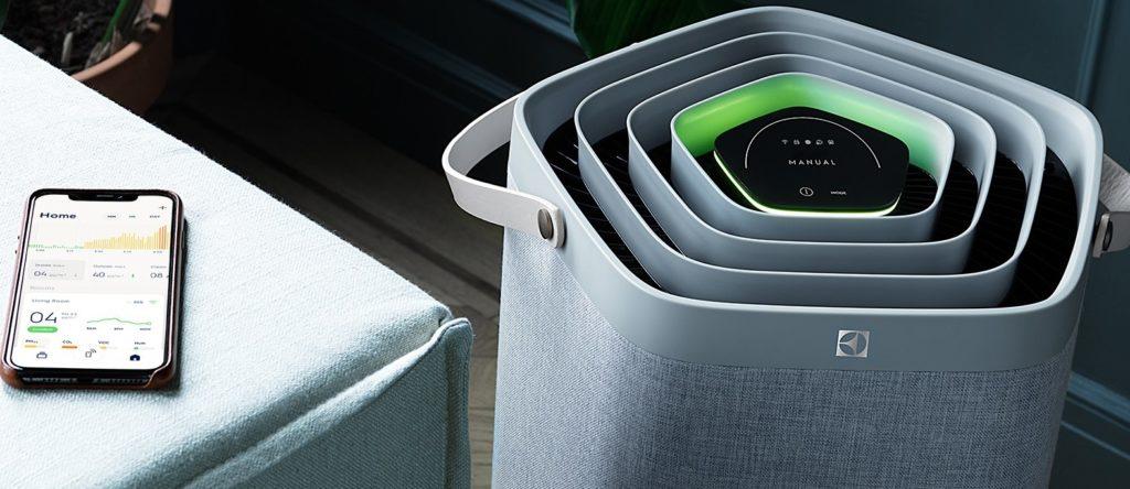 Приложение для Pure A9 предлагает потребителям данные в реальном времени, включая качество воздуха в помещении.