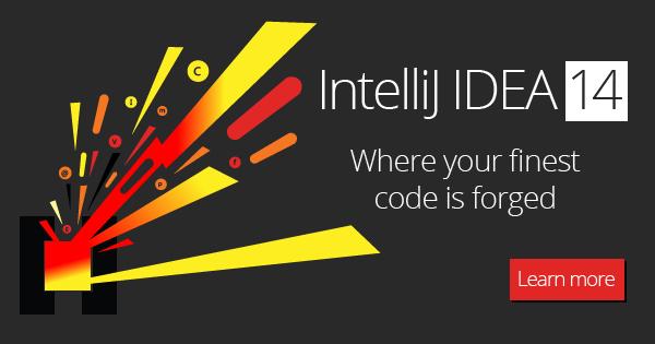 Встречайте, IntelliJ IDEA 14 уже здесь