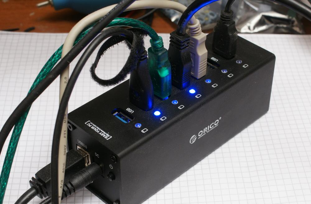 Кратко об идеальном 7-и портовом USB 3.0 хабе ORICO