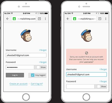Mobile Inline Form Validation