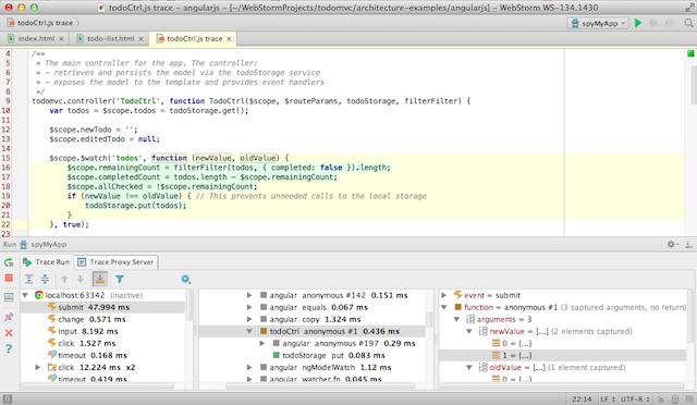 Встречайте WebStorm 8: поддержка AngularJS, spy-js