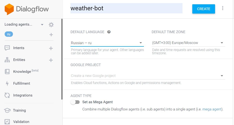 Погода-бот DialogFlow  OpenWeather  Python