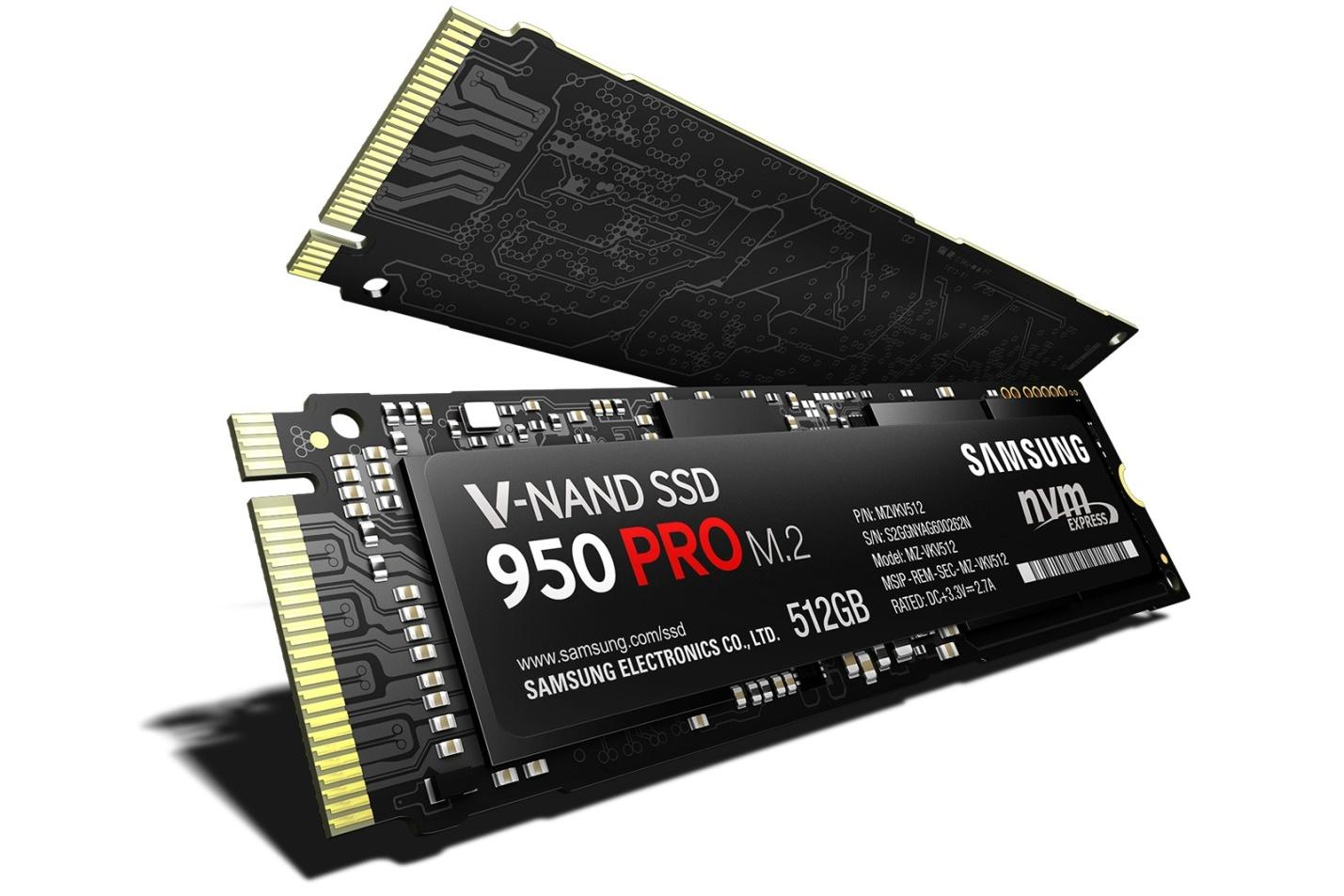 New Samsung of 950 Pro PCIe SSD: everything that should be known