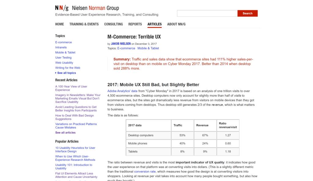 M-Commerce ― Terrible UX